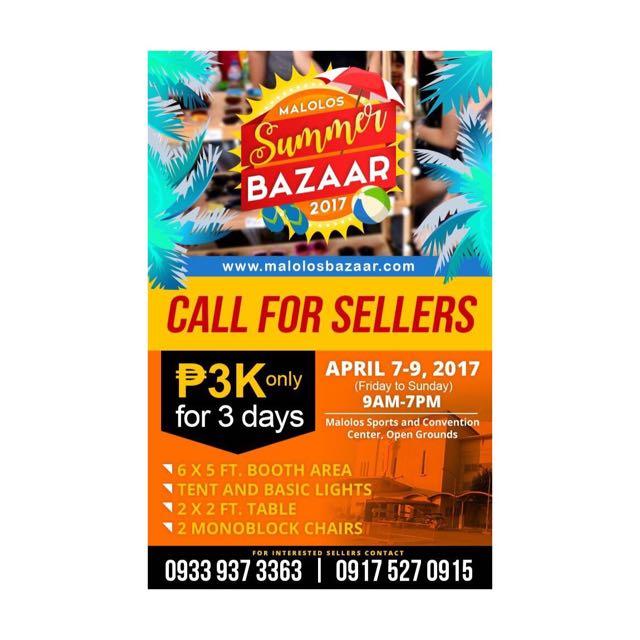 CALL FOR BAZAAR SELLERS