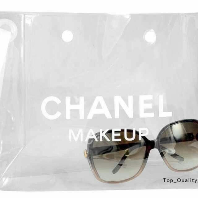 Chanel 塑膠透明化妝包