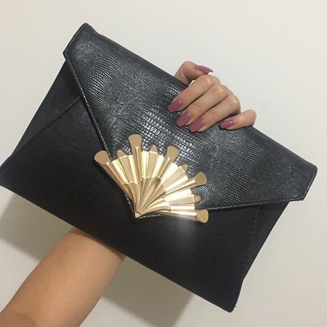 Colette Hayman Clutch With Gold Strap