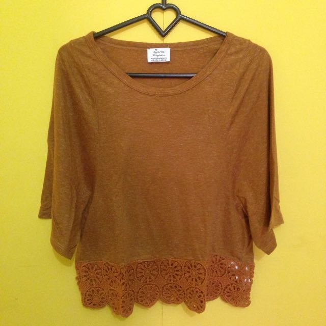 Crop Tee In Brown