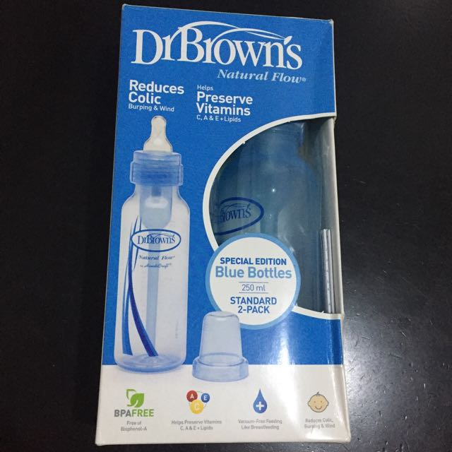 Dr Brown Special Edition blue Bottles