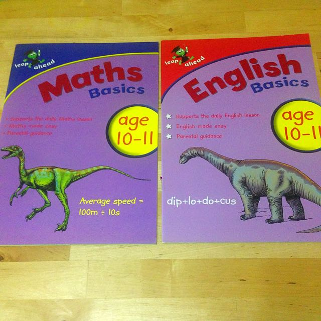 English & Maths Activity Books For Age 10-11y