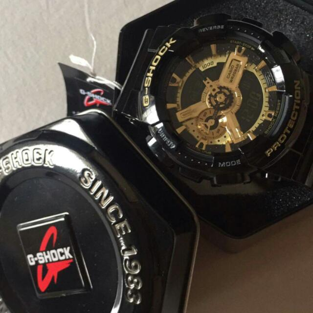 G Shock Black And Gold