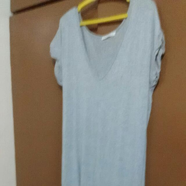 Gray Maxi Dress With Side Slits