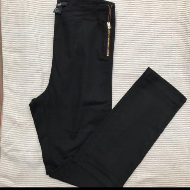 H&M High Waist Black Pants Size 36