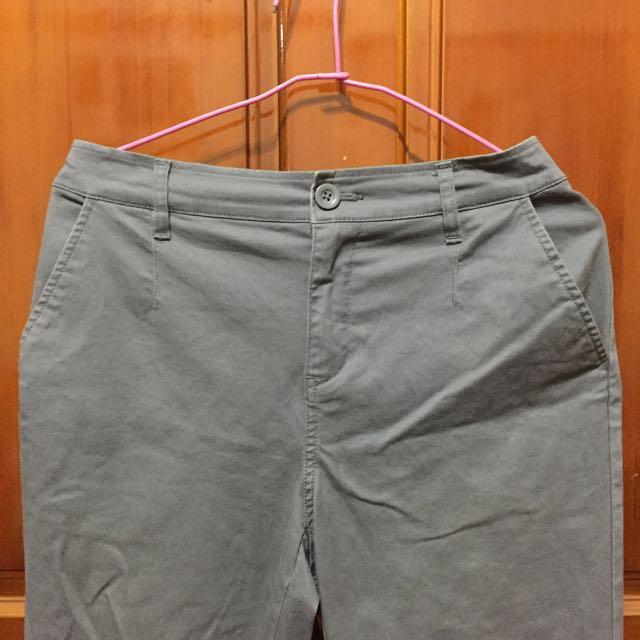 Lativ灰色棉質長褲