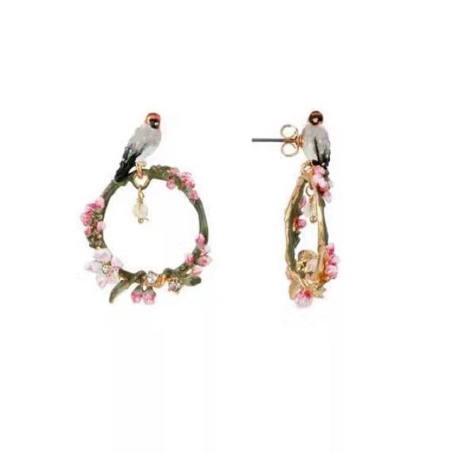 Les Nereides Love Bird Earrings