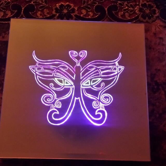 Light Up Butterfly Mirror Nightlight