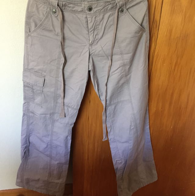 Max Grey Cargo Style Trousers Size 10