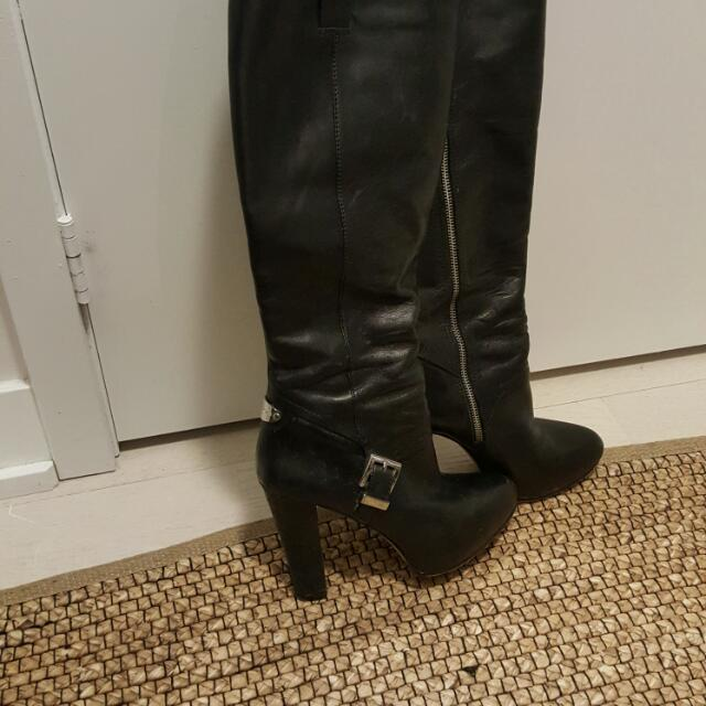 Michael KORS buckle Leather Boots