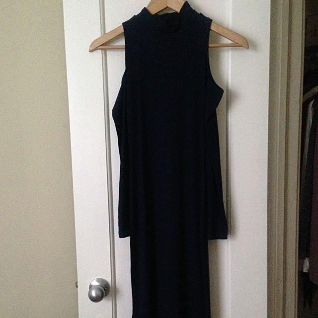 NASTYGAL - Cold Shoulder Dress Navy
