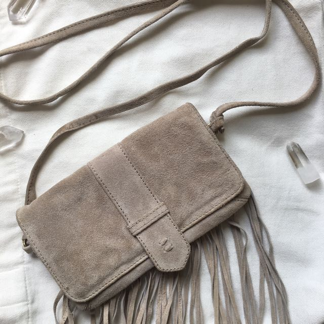 NEW Leather/suede Beige Shoulder Bag