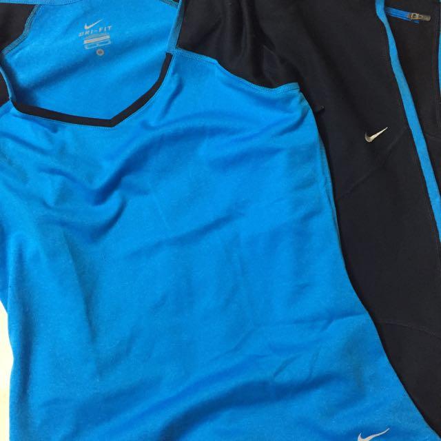 Nike Dri Fit Shirt And Nike Knee Length Legging Medium SET! SALE!!!