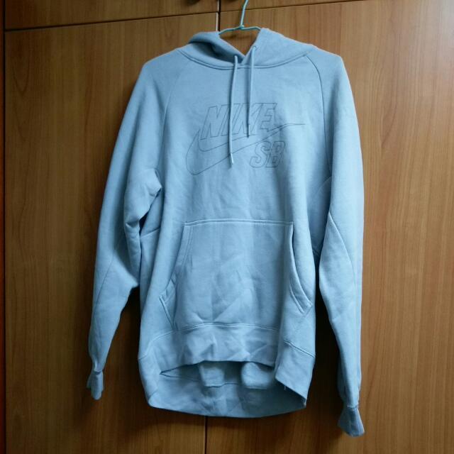Nike灰藍色帽T