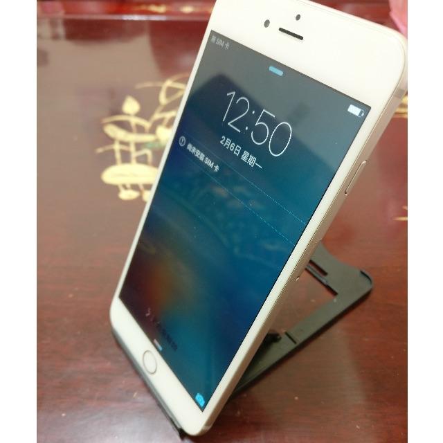 e- 日版 au iPhone 6 plus 16g silver 金色 九成新