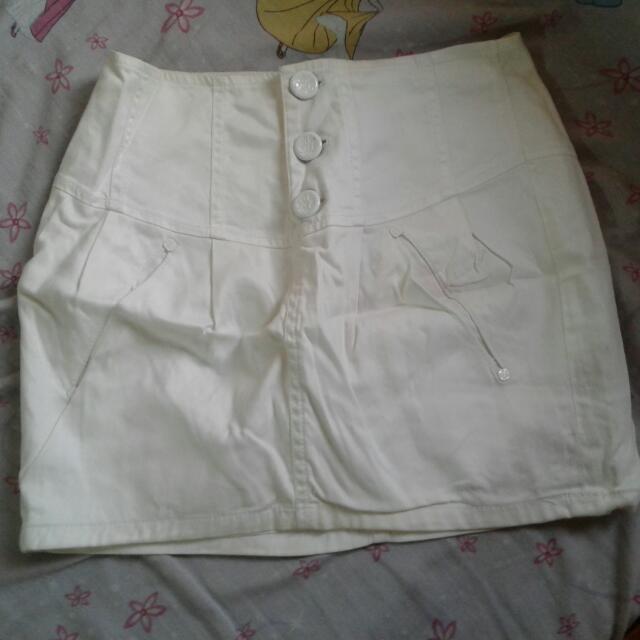 Plain White Skirt