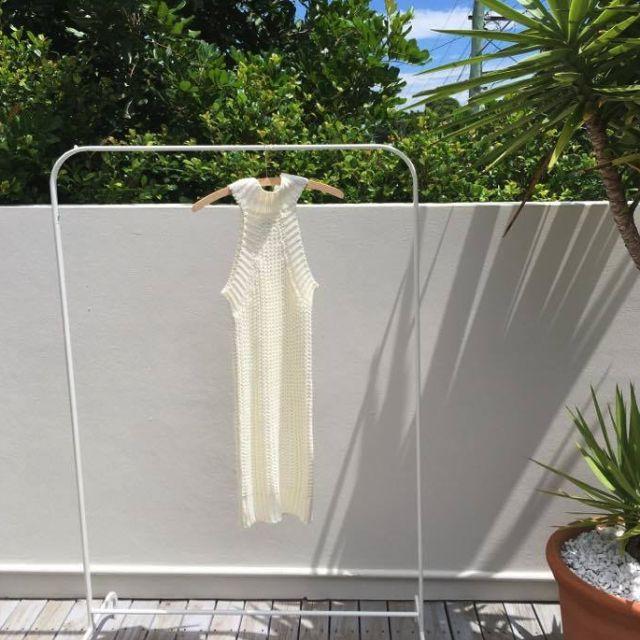 Princess Polly White Knit Sleeveless Mini Dress