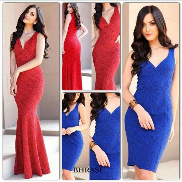 Red Mermaid Tail Formal Dress