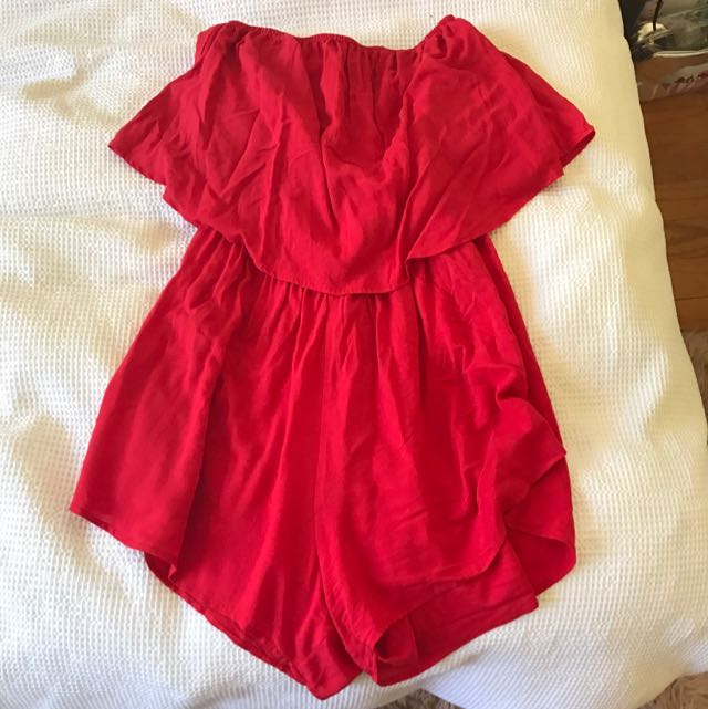 Red Playsuit From Evolution Ponsonby