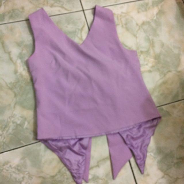 Ribbon Top In Purple