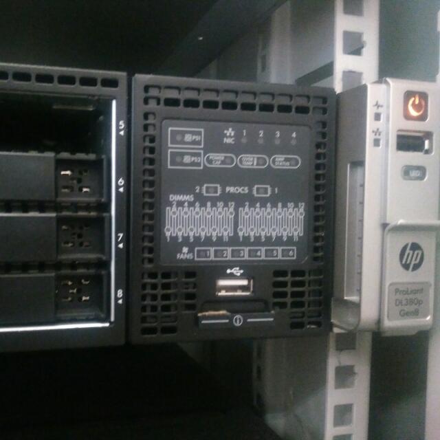 Server Rack HPE 2u Proliant Dl380p Gen8 Dan Dl180