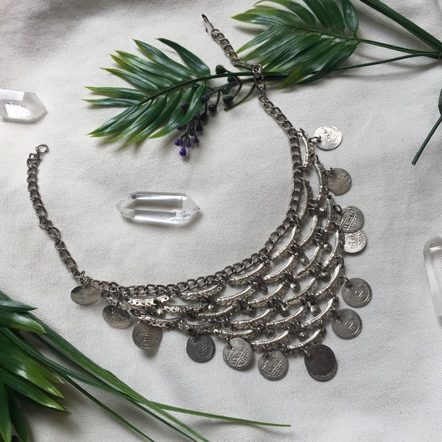 Silver Coin Festival Necklace