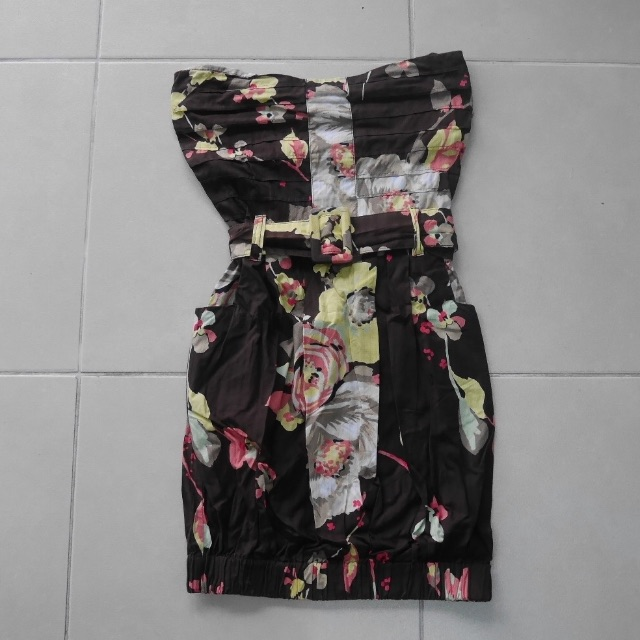 Space Floral Tube Dress