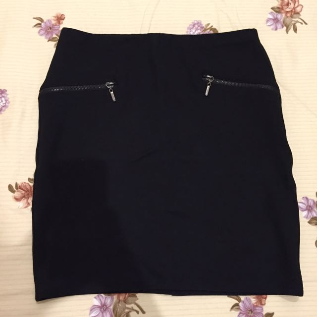 Stradivarius Black Skirt