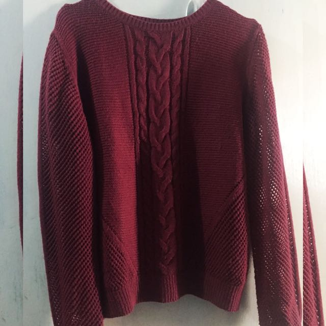 sweeter knit maroon COLORBOX