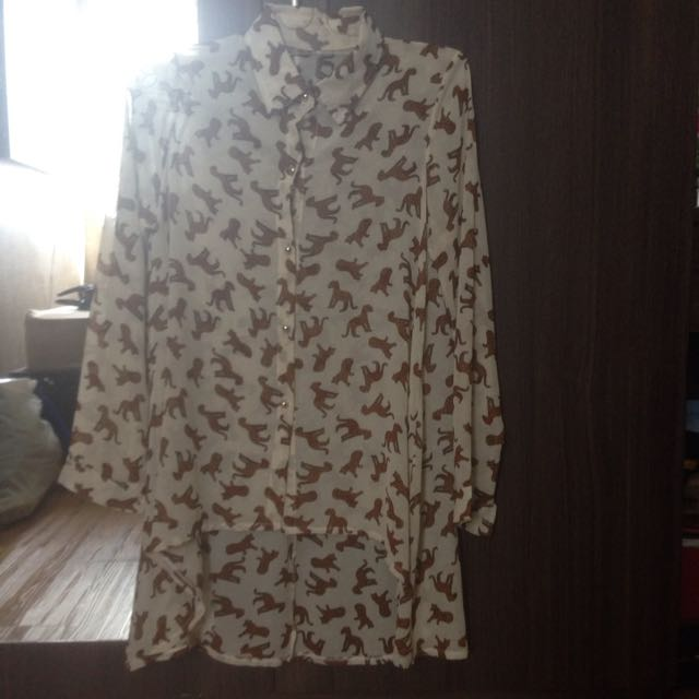 Tiger Pattern Blouse