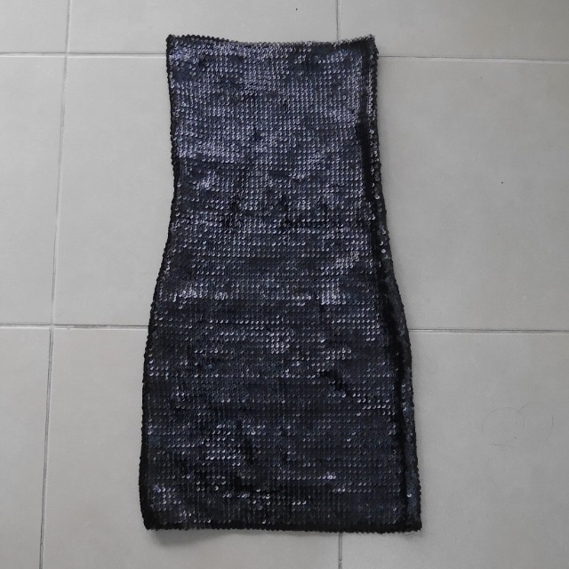 Topshop Sequinned Black Dress