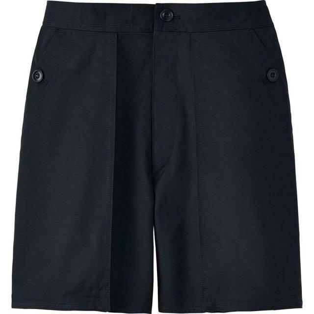 UNIQLO x LEMAIRE 黑色棉質斜紋短褲 Hermes