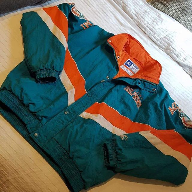 save off 0ab6a 0ae16 Vintage Miami Dolphins Starter Jacket, Women's Fashion ...