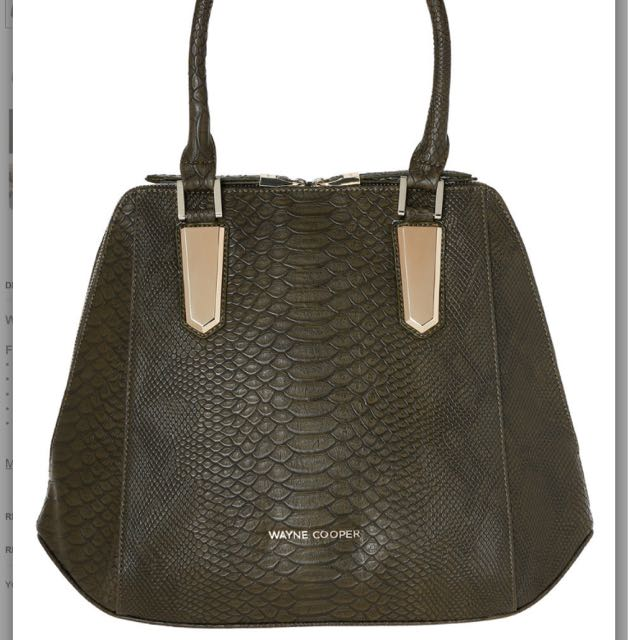 WAYNE COOPER Rhea Structured Tote Olive In WH-2291