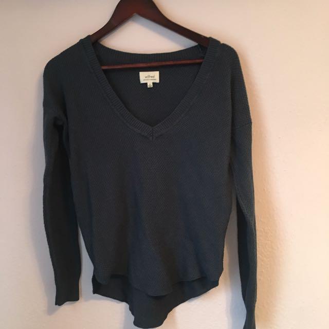 Wilfred (Aritzia) Deep Blue Sweater