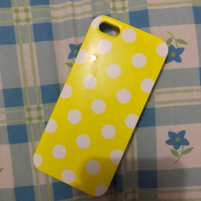 Yellow Polkadot Softcase Ip5/5s
