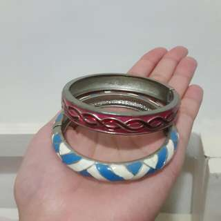 Take All 30k Pink & Blue Woman Bracelet - Gelang Wanita
