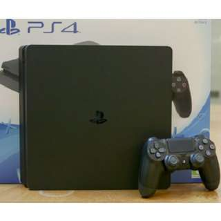 Playstation 4 Slim 1TB Jetblack Bundle With 2 Games and PULSE Headset (Black)