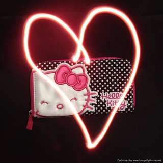 Sanrio Hello Kitty Black White Polka Dot Wallet