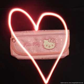 Hello Kitty Pink Pattern Pencil Case