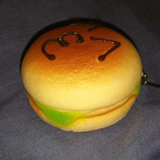 Cute squishy Burger Keychain