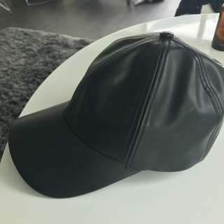 Brand New Leather Hat From Aritzia