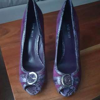 Nine West Purple SuedeAnimal Print Outline Shoes. Size. 7.5