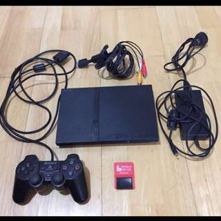 Sony PlayStation 2 Slim PS2 + 18 Games