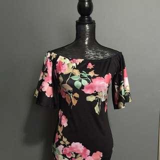 Brand New Floral Off The Shoulder Dress