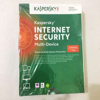 kaspersky Internet Security (5 devices/1year) Brand New/Sealed