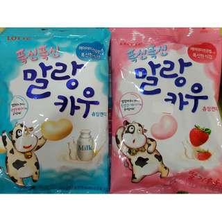現貨~韓國進口LOTTE 樂天 鮮奶棉花糖 軟糖 香蕉/草莓/原味/巧克力