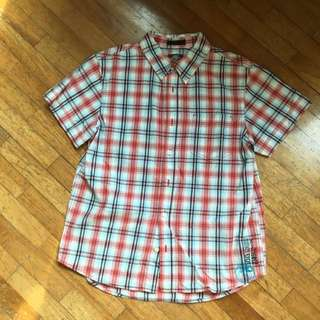H&M Short Sleeve Checkered Shirt