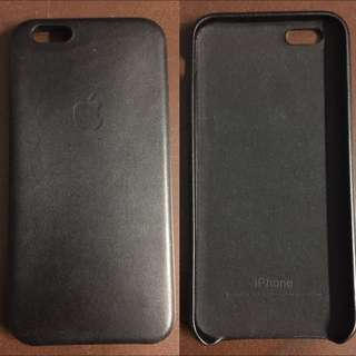 Apple Iphone 6 Leather Case (BLACK)