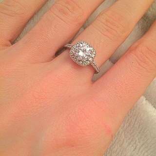 Princess Cut Silver Plated Ring
